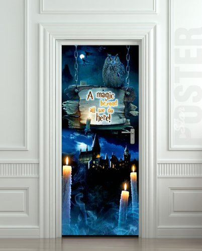 Wall Door STICKER harry potter magic Hogwarts  mural decole film 30x79\u0026quot; ( : potter door - pezcame.com