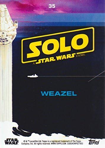 2018 Topps Solo Star Wars Story #35 Weazel BLACK NrMint-Mint