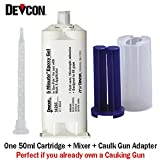 Devcon 5-minute epoxy gel, 50 ml devpak [PRICE is per CARTRIDGE]