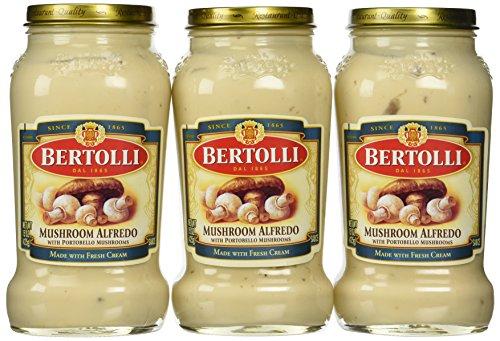 Bertolli Mushroom Alfredo Sauce, 15 Oz., (Pack of - Bertolli Mushroom Sauce
