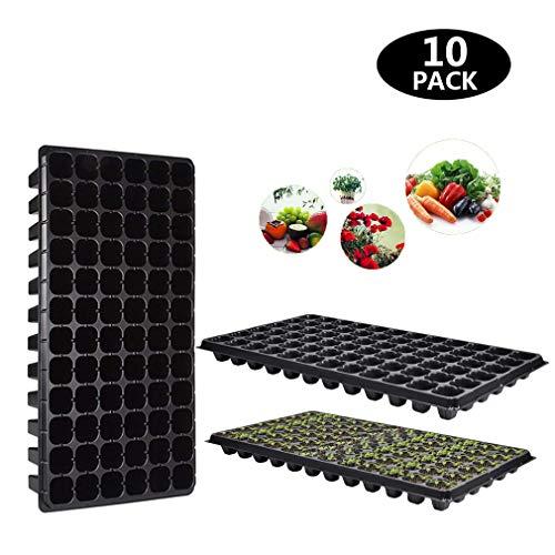 WAYDA 10-Pack Seed Starter Kit 72 Cell Gardening Tray - Plug Tray Starting Trays Seedling Starter Trays Plant Kit for Planting Seedlings, Propagation (Starter Gardening Seed)