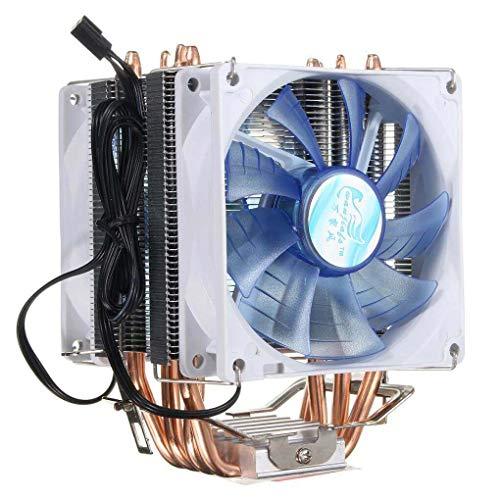 Yongse 92mm 3 Pin Blue LED Copper CPU Cooler Cooling Fan Heat Sink for Intel LGA775/1156/1155 AMD AM2/2+/3