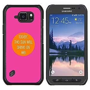 Caucho caso de Shell duro de la cubierta de accesorios de protección BY RAYDREAMMM - Samsung Galaxy S6Active Active G890A - Brillará motivación mí impresiones