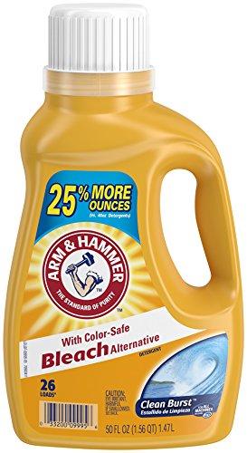 Arm Bleach (Arm & Hammer Liquid Laundry Clean Burst with Bleach, 50 Fluid Ounce)