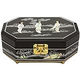 Oriental Furniture Violetta Jewelry Box - Black