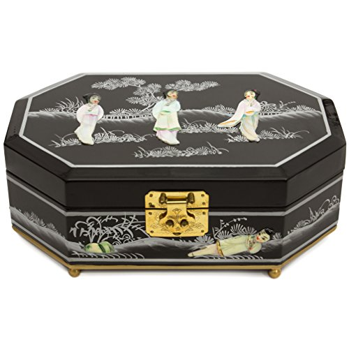Oriental Furniture Violetta Jewelry Box - Black