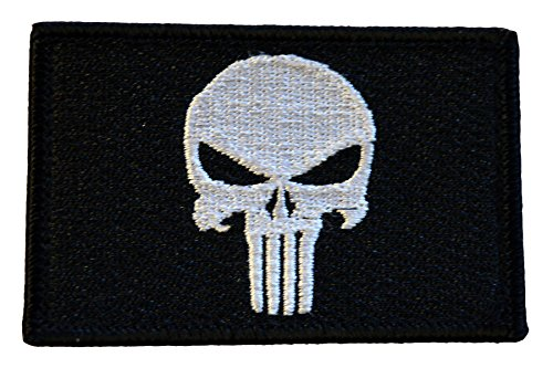 American Tactical Supply Co. Punisher Swat Tactical Patch, Black & (Rogue Costume Pattern)