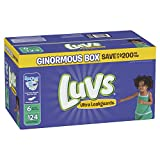 Luvs Ultra Leakguards Disposble Diapers, Size 6, 124 Count, ONE Month Supply