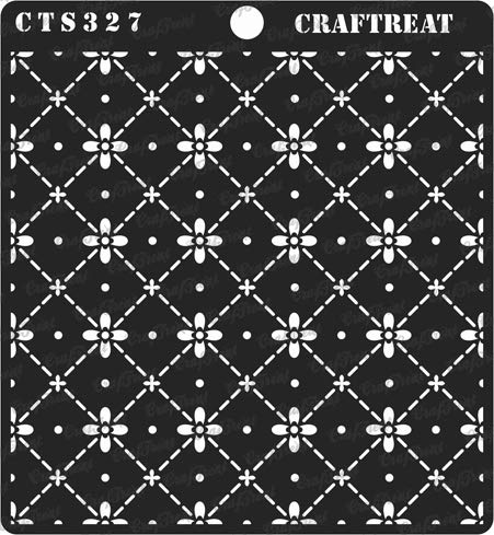 CrafTreat Stencil - Dotted Diamond Flower | Reusable Painting Template for Journal, Notebook, Home Decor, Crafting, DIY Albums, Scrapbook and Printing on Paper, Floor, Wall, Tile, Fabric, Wood 6