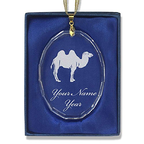 Oval Crystal Christmas Ornament - Camel - Personalized En...