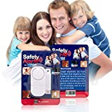 Best Wireless Loud and Discreet Mini Entry Alarm Easy To Install Sensor and Battery Operated Affordable and Perfect Alarm System for DayCare Windows Preschool Doors Cabinets Pool Stairs & More (1)