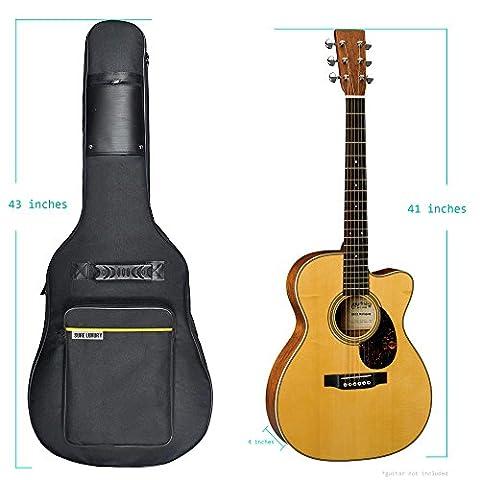 sure luxury 41 inch acoustic guitar soft case gig bag backpack black best music bags. Black Bedroom Furniture Sets. Home Design Ideas