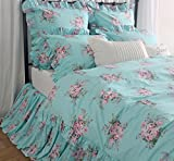 Victorian Chic Floral Duvet Cover Ruffles Shabby Bedding Sets French Country Duvet Cover Bed Sets