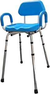 Hip Chair, APEX(tm) Premium, Padded, Height Adjustable, SEAT-Angle Adjustable Hip Chair. Doctor and Rehab Specialist Recommended.