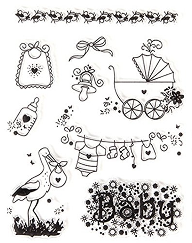 Layhome Baby Album Transparent Clear Stamp Silicone Stencils Template