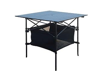 Mesas plegables portátiles Mesa de barbacoa de camping Mesa de aluminio de playa Terraza de restaurante