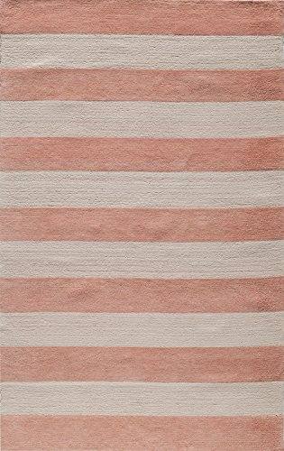 Momeni Rugs LMOINLMI-5PNK2030 Lil' Mo Classic Collection, Kids Themed 100% Cotton Hand Hooked Area Rug, 2' x 3', Pink