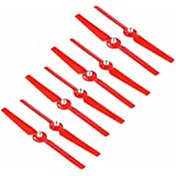 8pcs Propeller for Yuneec Q500 Typhoon 4K Drone Spare Parts Quick Release Props Replacement Blade 4 pairs Accessory Secologo (Red)