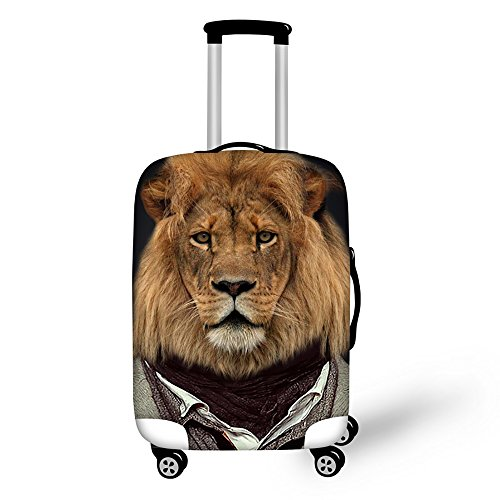 Freewander Luggage Covers Personalized Travel Suitcase Protective Elastic Skin (Medium(22''-26'') cover, Design-13)