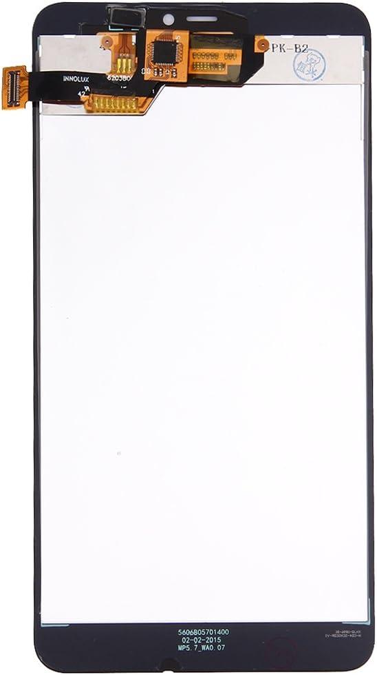 Black LIYUNSHU LCD Screen and Digitizer Full Assembly for Microsoft Lumia 640XL Color : Black