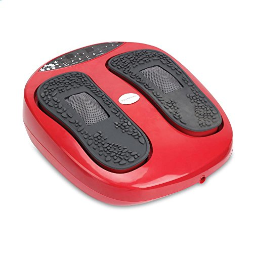 Hurtle Shiatsu Foot Massager Chinese Reflexology machine, Sitting  Remote Control Option, Simple Cleaning Pads, 2 Functions Massage and Beating   Auto-programs Adjustable Time & settings (SLFTMSG20)