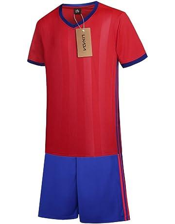 Lixada Camiseta de Futbol Conjunto de Uniformes Ropa de Deportes de Manga  Corta Breathable Ball Jersey 3d77edf668a