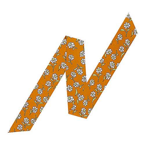Fashion Printed Hairbands Long Belt Scarves for Handbag 55''