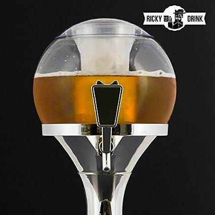 qtimber Dispensador de Cerveza Chill Beer Ball 26 x 29 x 29 cm dispenser di bibite: Amazon.es: Hogar
