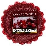 Yankee Candle 1244602E Tartelette en cire senteur Cranberry Ice Rouge