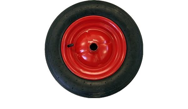 Centro de 40,64 cm rueda neumática/rueda de recambio/para las carretillas/ botadura carritos con reductor arbustos a 13 mm: Amazon.es: Jardín