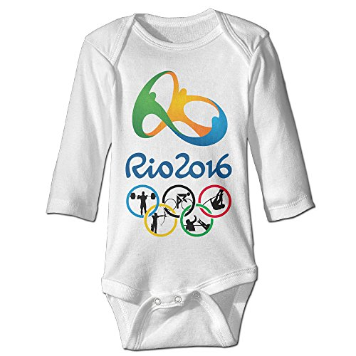 Price comparison product image Olympics Games Baby Boy's & Girl's The 2016 Rio De Janeiro White T-shirt Size 6 M