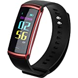 SEFREE Fitness Tracker,Smart Tracker Pedometers with Heart Rate Monitors Activity Wristband for Android and iOS Smartphones in Red