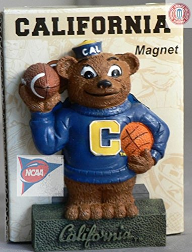 - NCAA CAL CAIFORNIA GOLDEN BEARS BASKETBALL FOOTBALL MASCOT 3-D MAGNET