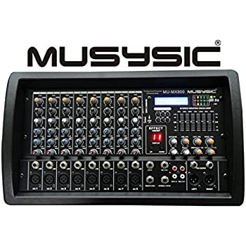 MUSYSIC PROFESSIONAL 8 CHANNEL 4500W POWER MIXER With Bluetooth/USB/SD Function MU-MX800