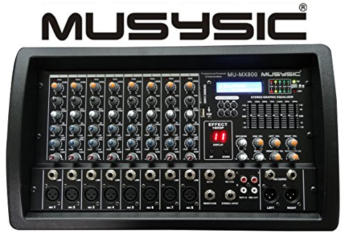 8 CHANNEL 4500W POWER MIXER With Bluetooth/USB/SD Function MU-MX800 (8 Channel Powered Mixer)