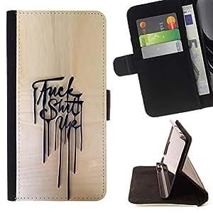 Momo Phone Case / Flip Funda de Cuero Case Cover - Hasta Mess Mensaje póster Agresivo - Sony Xperia Z2 D6502