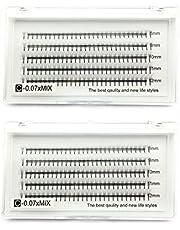 2 laden 3D-volume wimpers C krul 0,07 mm gemengd 8-12 mm Russische cluster valse wimperextensions EMEDA 6D wimperverlengingen(3D+6D)