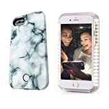 iPhone 7Plus/8Plus Selfie Phone Case,LNtech Rechargeable LED Light Up Flash Lighting Selfie Case Illuminated Cover (Stone Green, iPhone7Plus/8Plus)