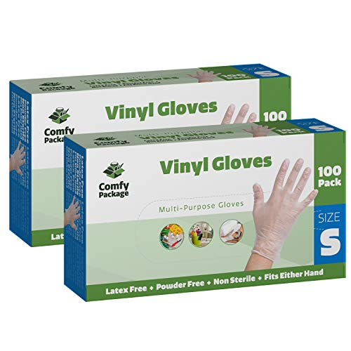 nyl Disposable Plastic Gloves [200 Pack] - Small ()