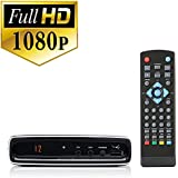 eXuby Digital Converter Box + RCA AV Cable for Recording and Watching Full HD Digital Channels - Instant & Scheduled Recording 1080P HDMI Output 7 Day Electronic Program Guide