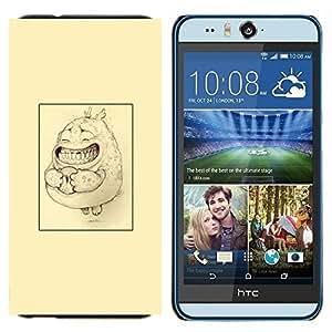 YiPhone /// Prima de resorte delgada de la cubierta del caso de Shell Armor - cartel boceto amarilla dibujo lindo lápiz - HTC Desire Eye M910x
