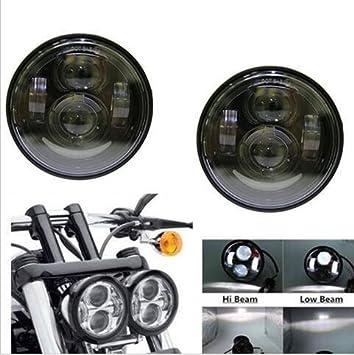 4.65 Dual Lampe Leuchtturm des Lampe LED Daymaker DRL f/ür Harley Dyna Glide Fett Bob