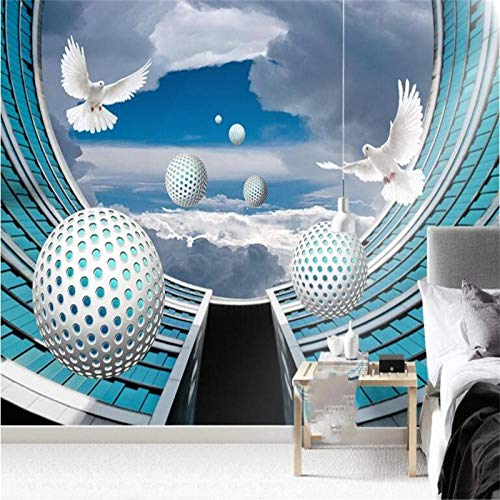 KAHSFA 3D Wallpaper Custom Wallpaper Mural 3D Solid Sphere Architectural Space TV wall-200cmx140cm