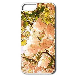 IPhone 5/5S Cases, Pink Flower Cases For IPhone 5 5S - White Hard Plastic