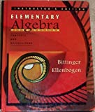 Elementary Algebra : Concepts and Applications Instructor's Edition, Bittinger and Ellenbogen, 0201417316