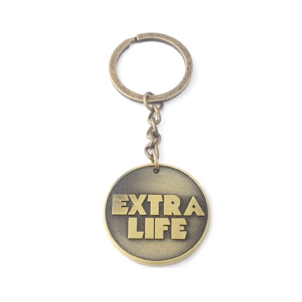 TISEA Parzival Wade's Jean Vest and Extra Life Coin Props Accessories Collections (One Size, Extra Life Coin Key Chain)