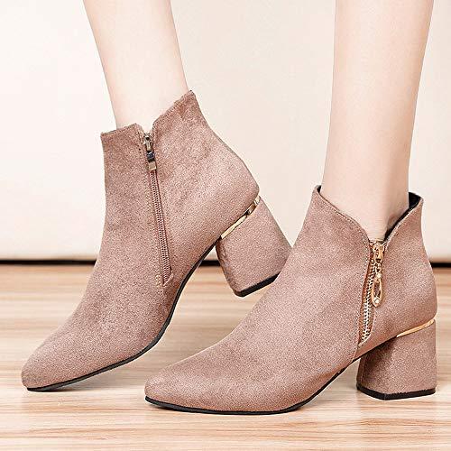mocassini Scarpe Alto Cerniera Punta scarpe sandali scarpe Martain Donna Tacco Stivali sneakers stivaletti infradito Donna A qwXxzAUT