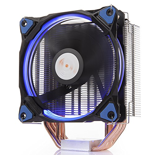 (GOLDEN FIELD PBZ4 CPU Cooler CPU Fan PC Radiator Heatsink with 5 Heatpipes & 120mm LED Fan Low Noise CPU Air Cooler for Intel & AMD)