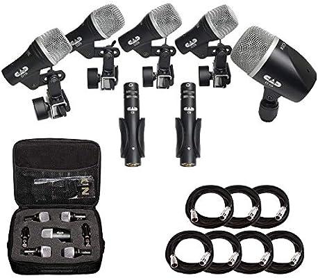 CAD Audio Stage7 Premium 7-Piece Drum Instrument Mic Microphone Pack Vinyl Case