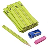 Best Carpenter Pencils - ALLY Tools 12 PC Neon Green Carpenter Pencil Review